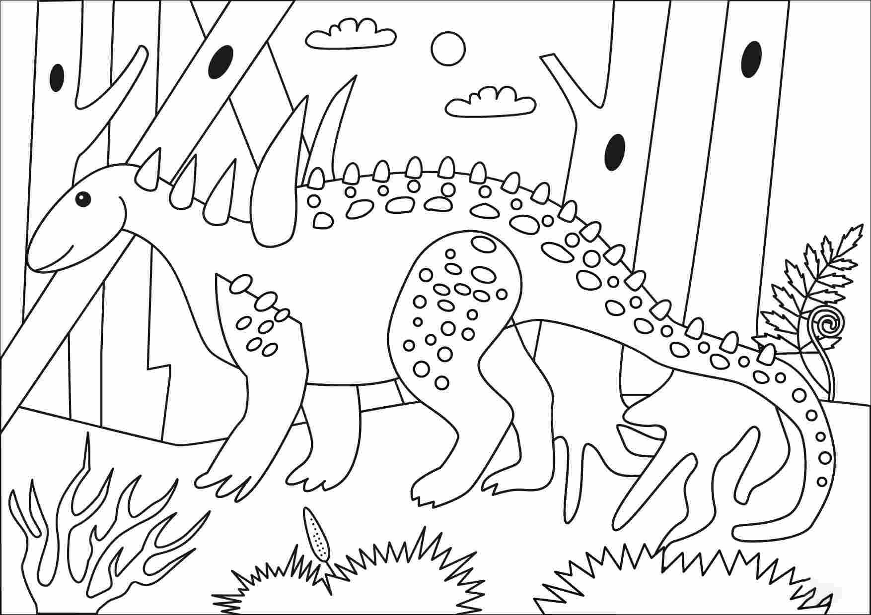 Sauropelta also had unique spikes on its neck Coloring Page