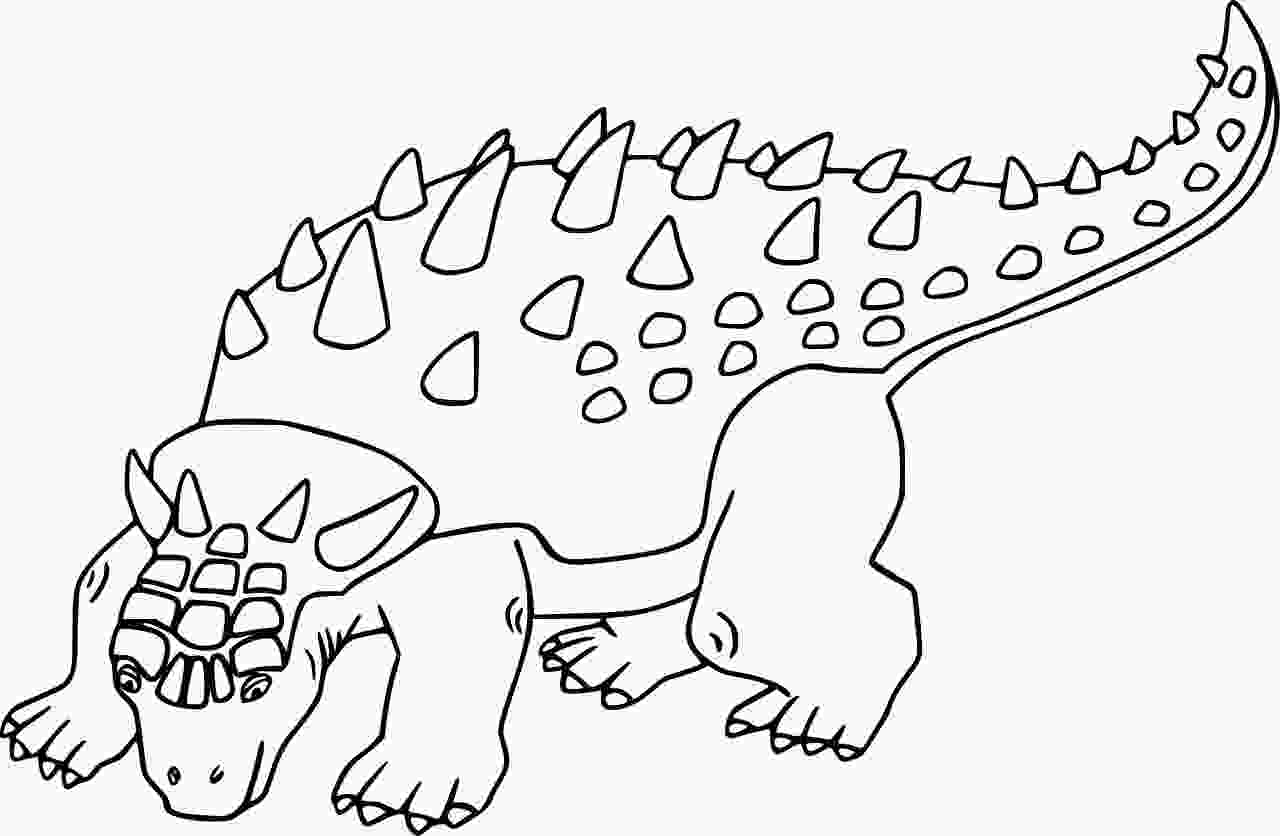 Sauropelta has a grey body with dark grey armour running down its back Coloring Page