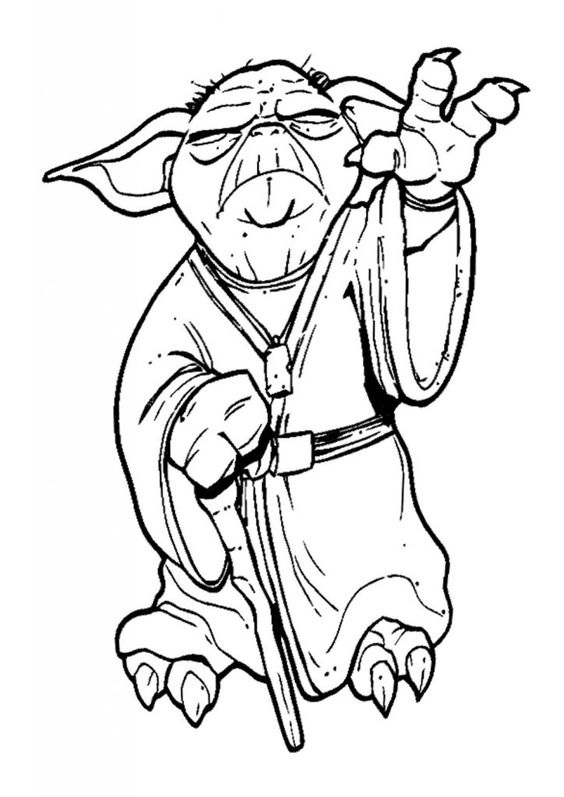 Save Baby Yoda Coloring Pages