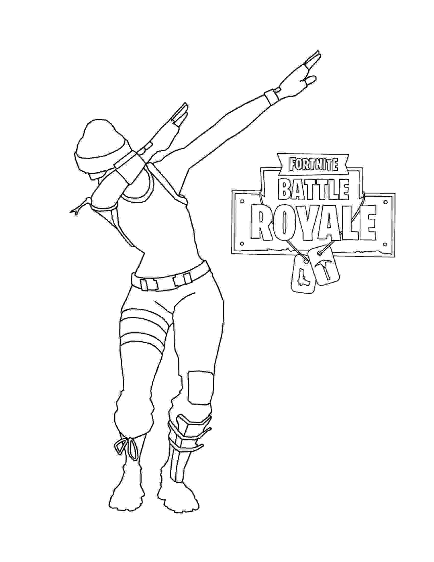 Scarlet Defender is dancing in Fortnite Battle Royale Coloring Page