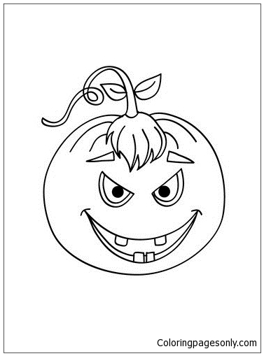 Scary Carved Pumpkin Coloring Pages Holidays Coloring Pages Free Printable Coloring Pages Online
