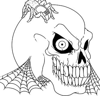 Scary Halloween 1 Coloring Page