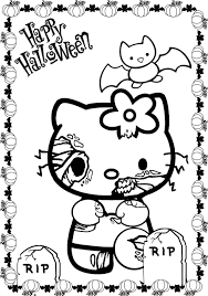 Scary Halloween Hello Kitty
