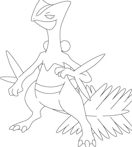 Sceptile Coloring Page