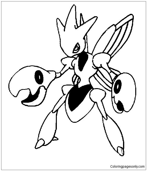 Zangoose Kleurplaat Scizor Pokemon Coloring Page Free Coloring Pages Online