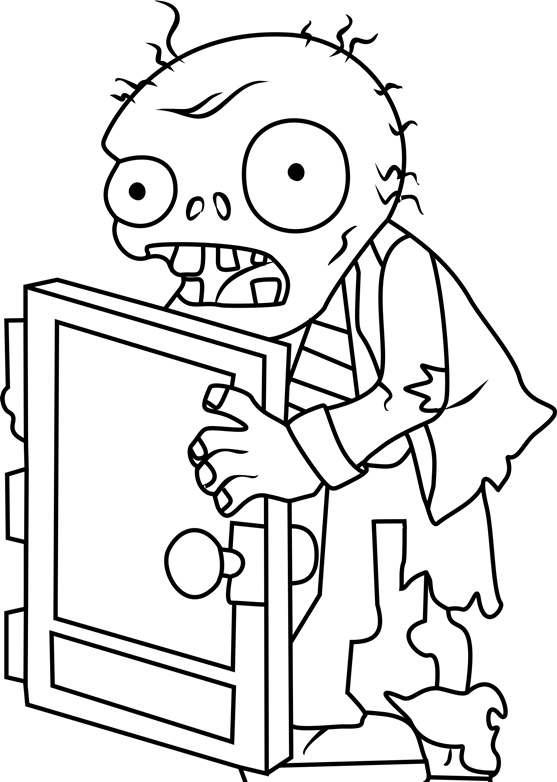 Screen Door Zombie Coloring Page