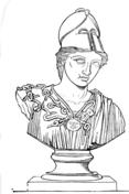 Sculpture Of Greek Warrior