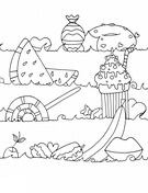 Sea of Sweets Coloring Page