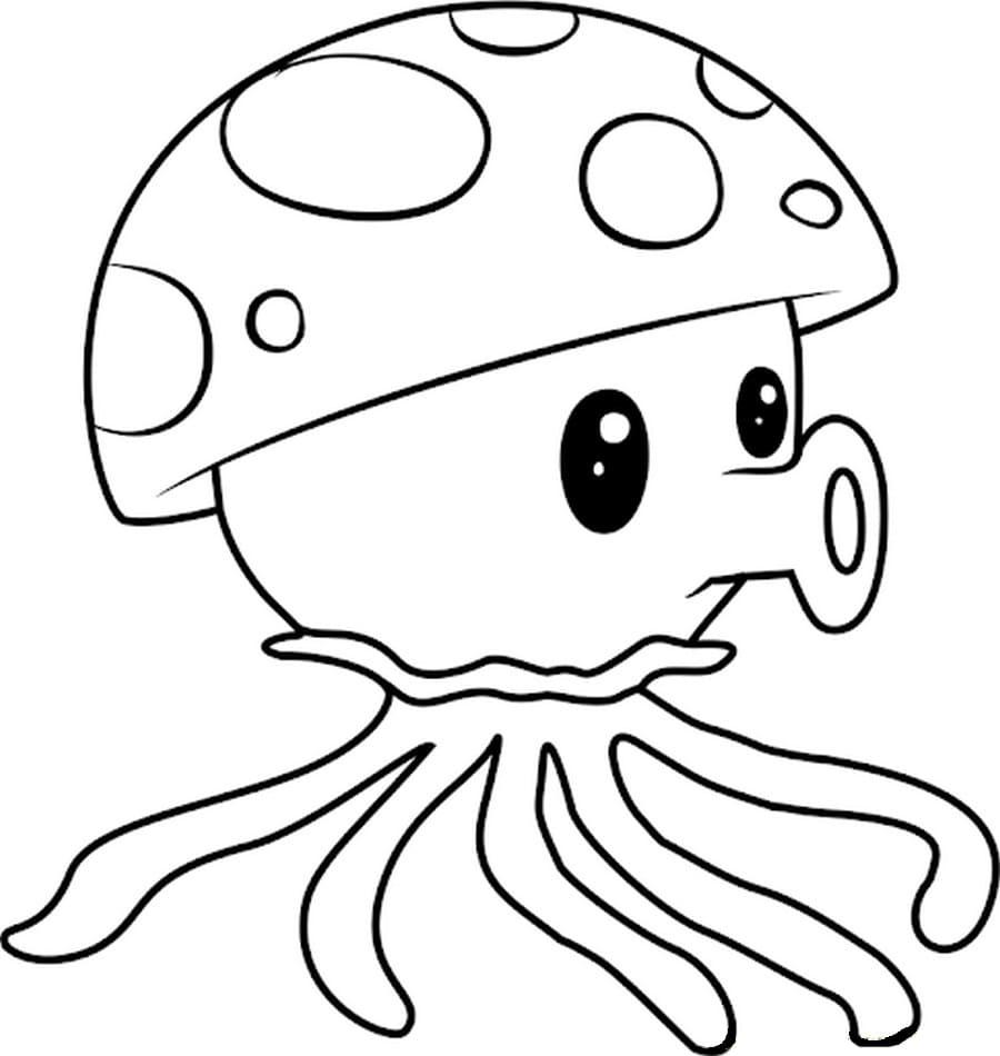 Sea-shroom Coloring Page