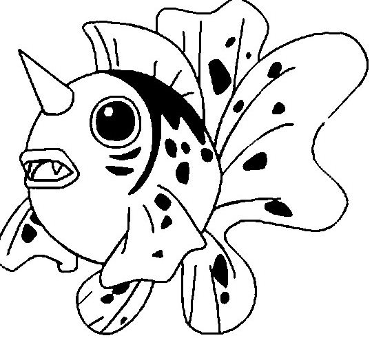 Seaking Pokemon Coloring Page