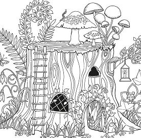Little Girl Pouring Water In Garden Coloring Page