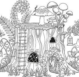 Secret Garden 1 Coloring Page