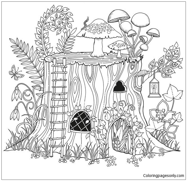 free printable secret garden coloring pages | Secret Garden Colouring Book Free - Garden Ftempo