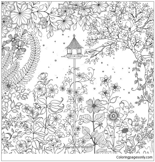 free printable secret garden coloring pages | Secret Garden Coloring Page - Free Coloring Pages Online