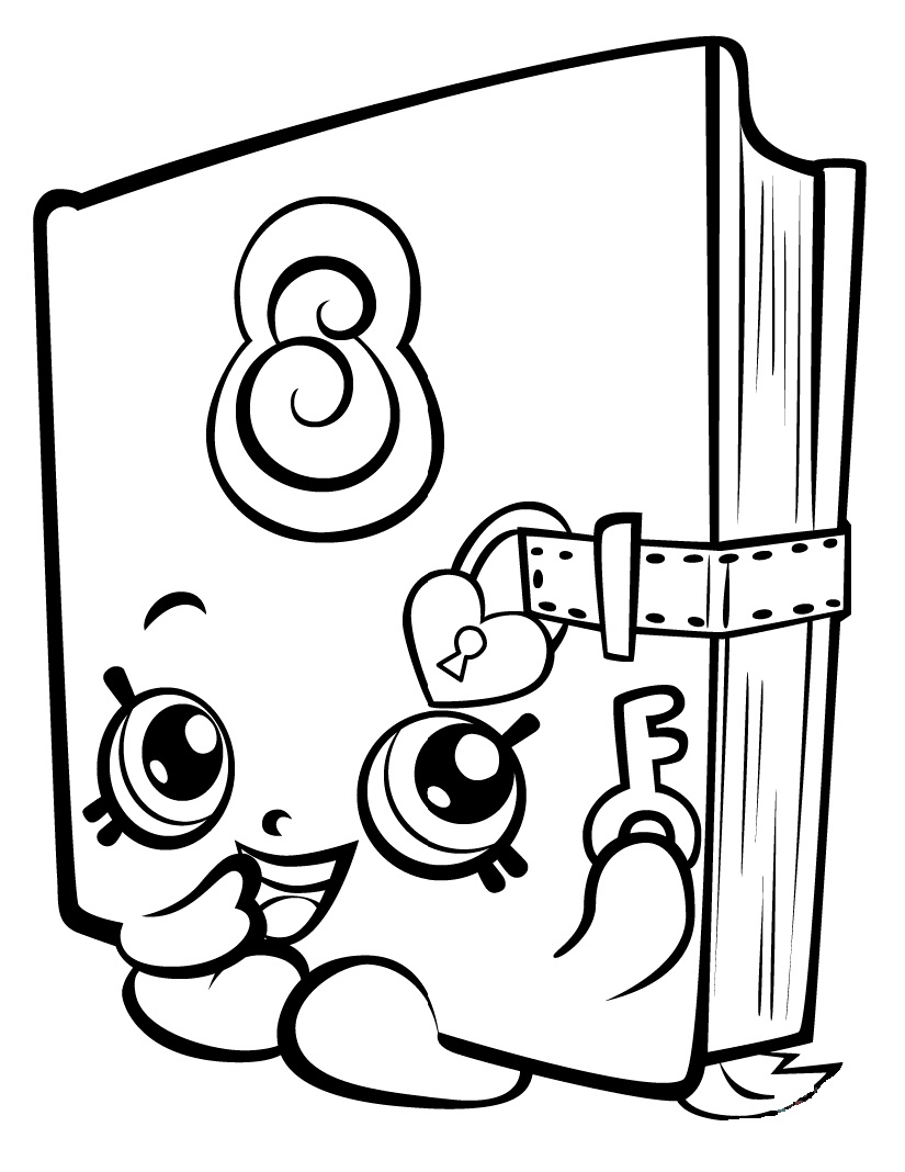Shopkins coloring pages wishes - Secret Sally Shopkin Season 3