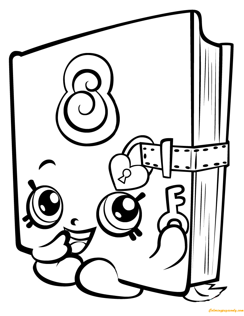 Secret sally shopkin season 3 coloring page free coloring pages online