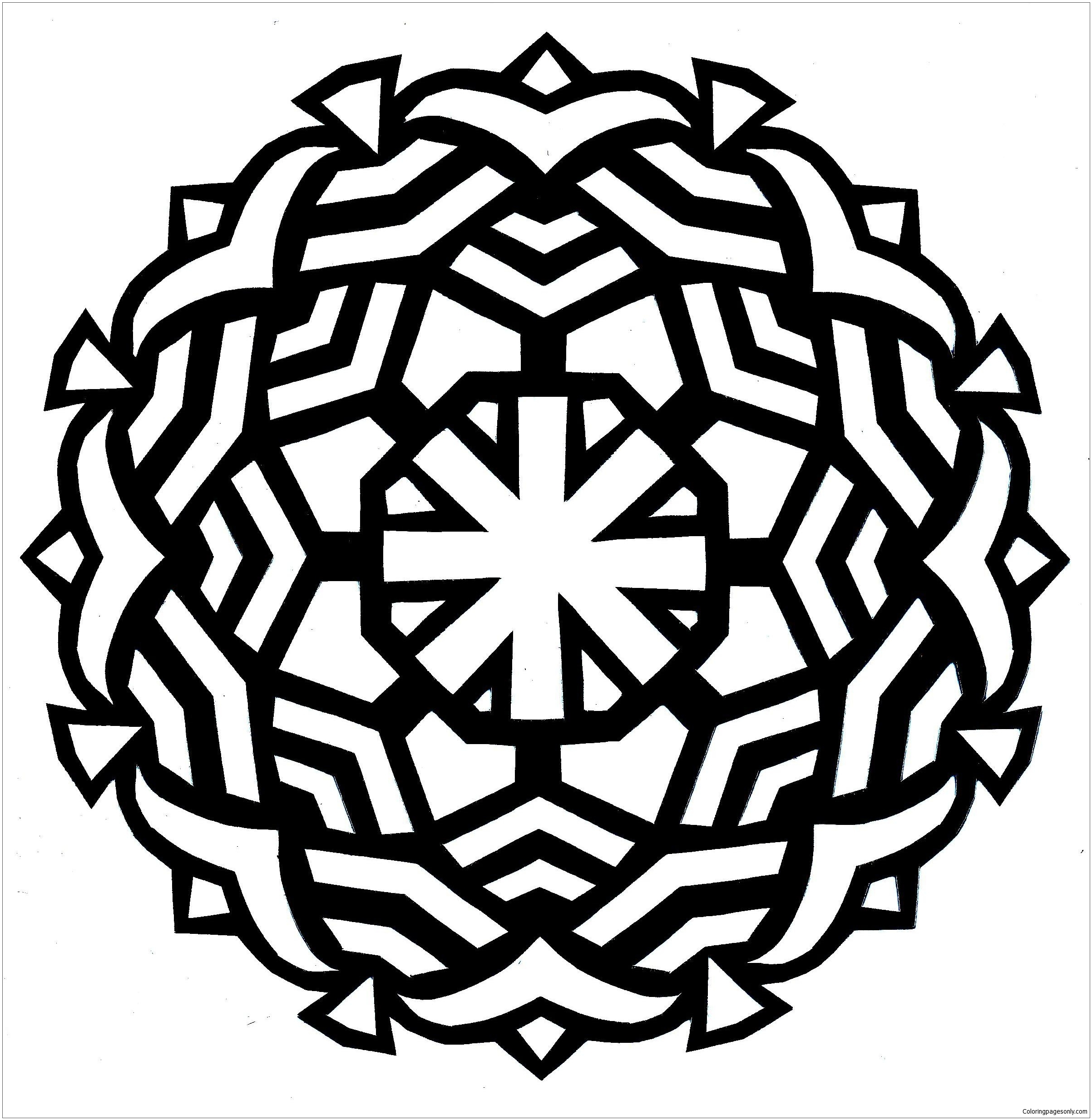Security Easy Mandala Coloring Page - Free Coloring Pages ...