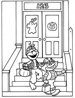 Sesame Street Elmo Trick Or Treat