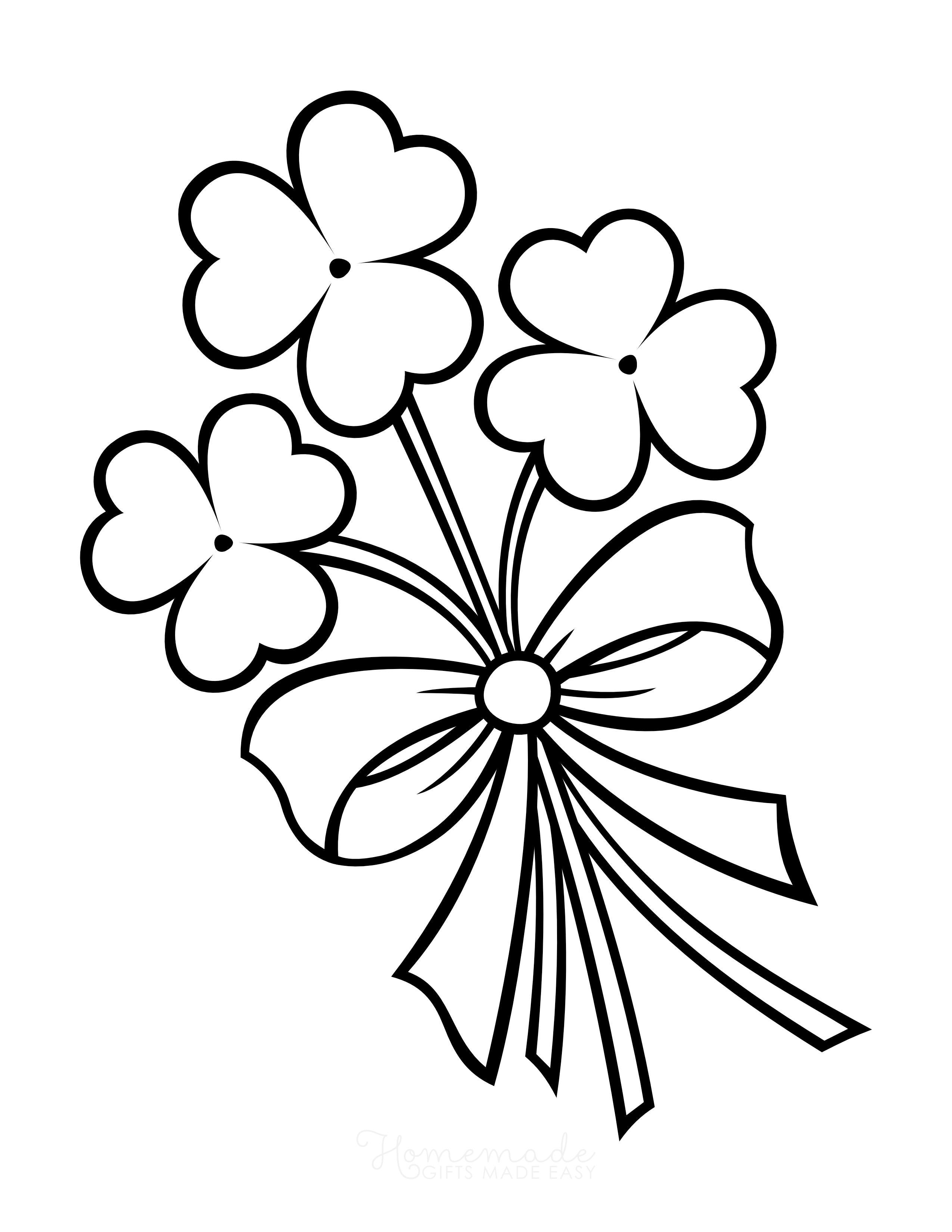 Shamrock bauquet Coloring Page