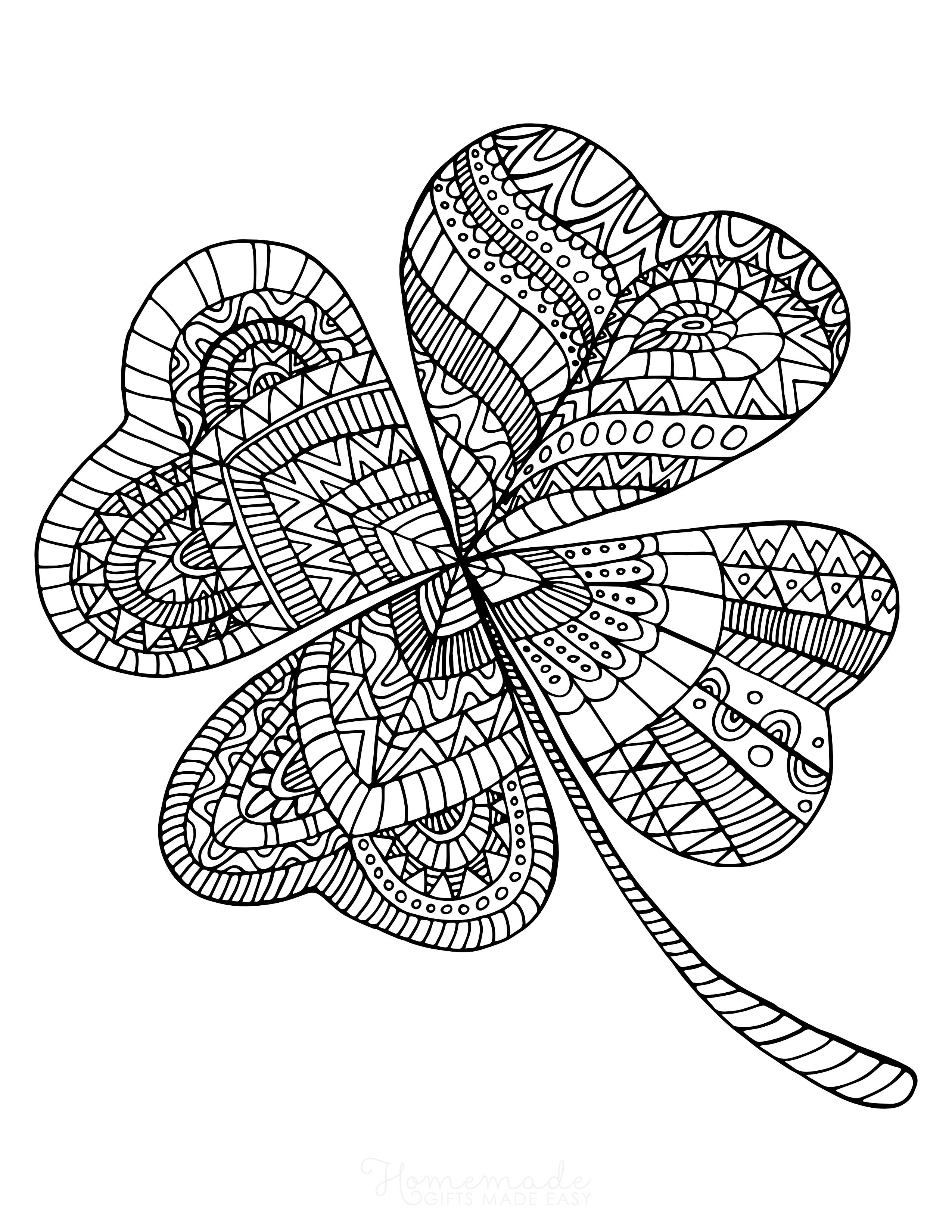 Shamrock for aldults Coloring Page