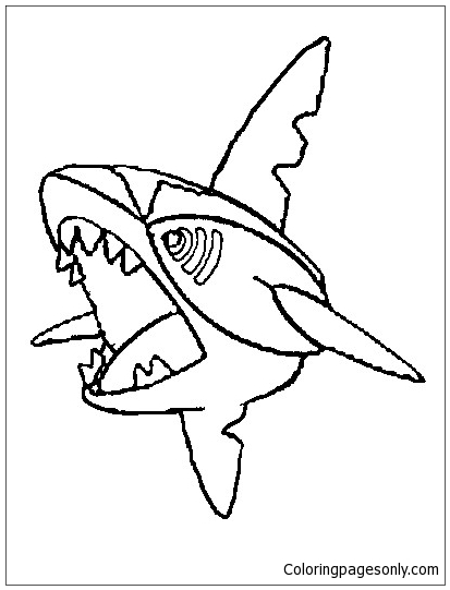Sharpedo Coloring Pages