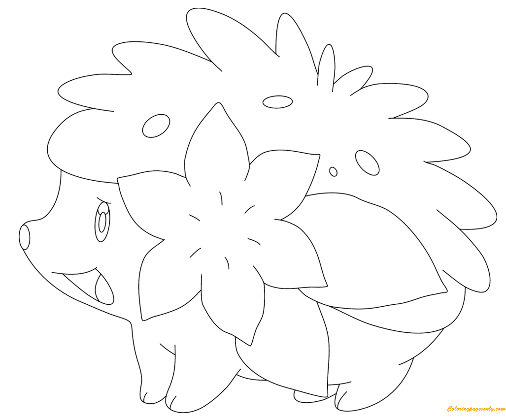Shaymin In Land Form Coloring Page