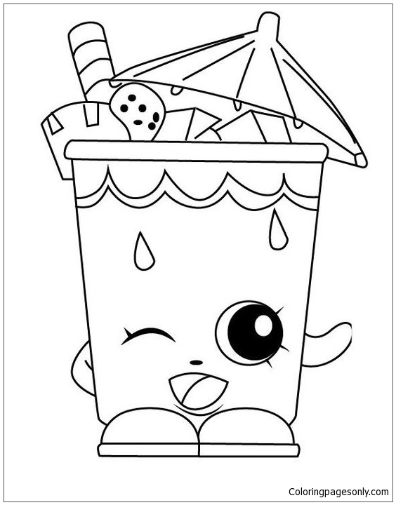 Sheet Work Shopkins Coloring Page
