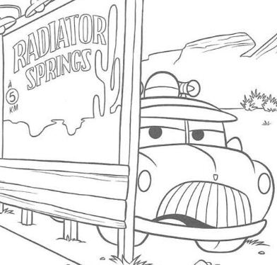 Sheriff's car Coloring Page