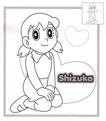 Shizuka Coloring Page