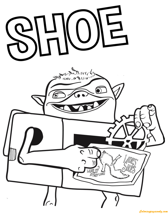 Shoe From Troll Coloring Page