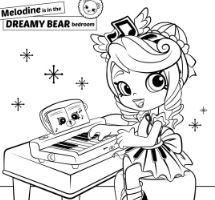 Shopkins Cute Girl 1 Coloring Page