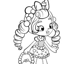 Shopkins Cute Girl 2 Coloring Page