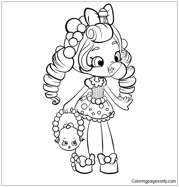 full screen download print picture - Coloring Page For Girl 2
