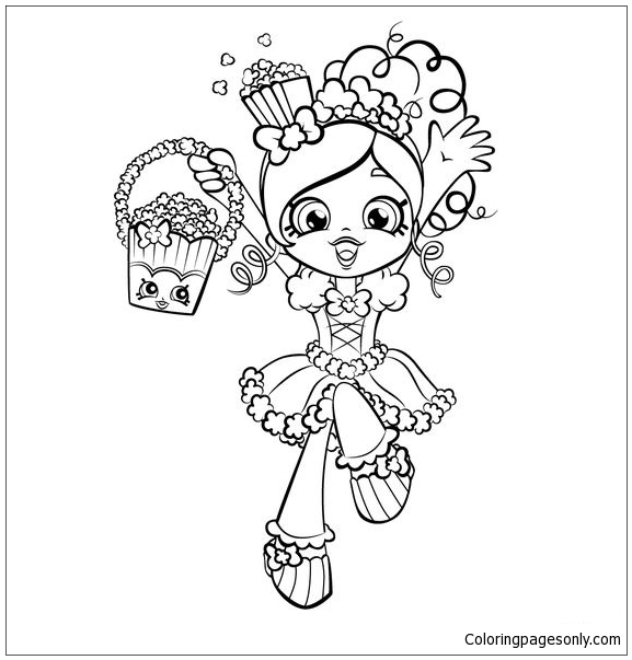 Shopkins Cute Girl Coloring Page