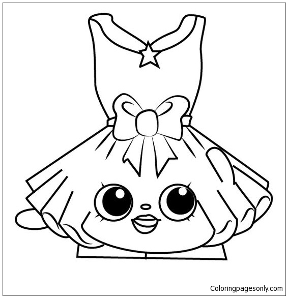 Shopkins Dress Girl Coloring Page