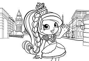 Shopkins Girl in Europe