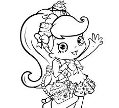 Shopkins Girl Shoppie Say Hi Coloring Page