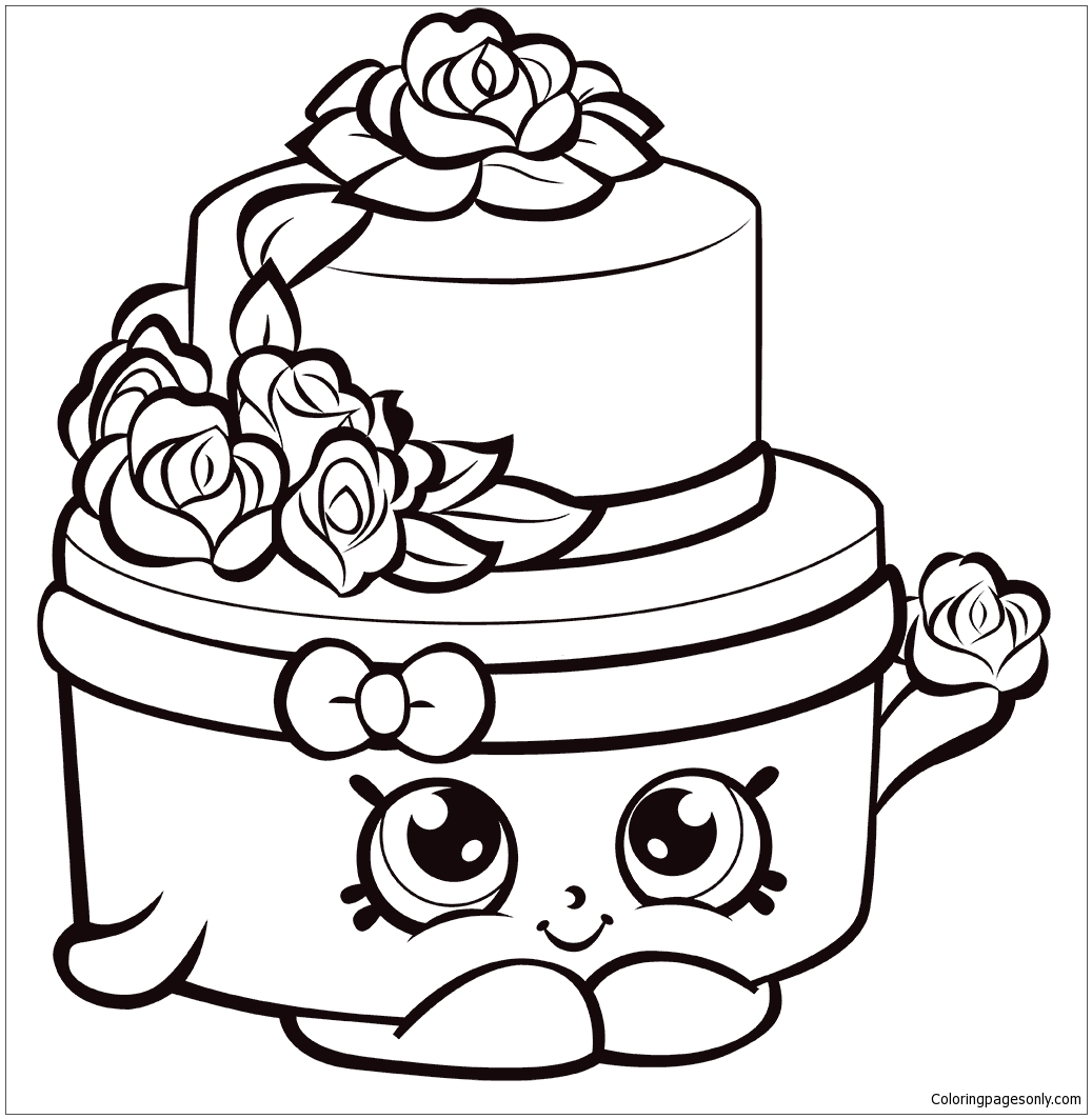 Shopkins Wedding Cake Coloring Page - Free Coloring Pages ...