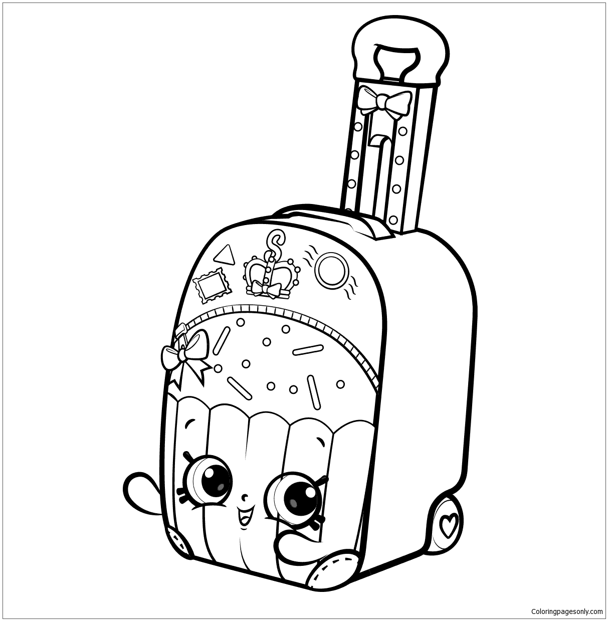 Shopkins World Vacation Coloring Page - Free Coloring Pages Online