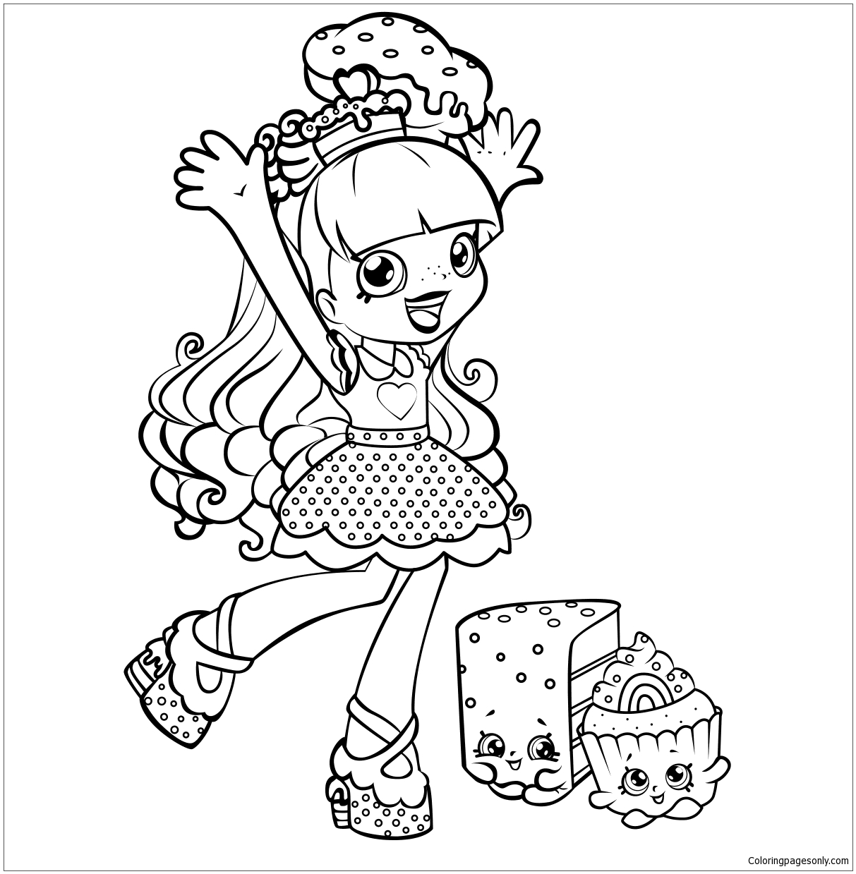 Shoppies Rainbow Kate Shopkins Coloring Page - Free ...