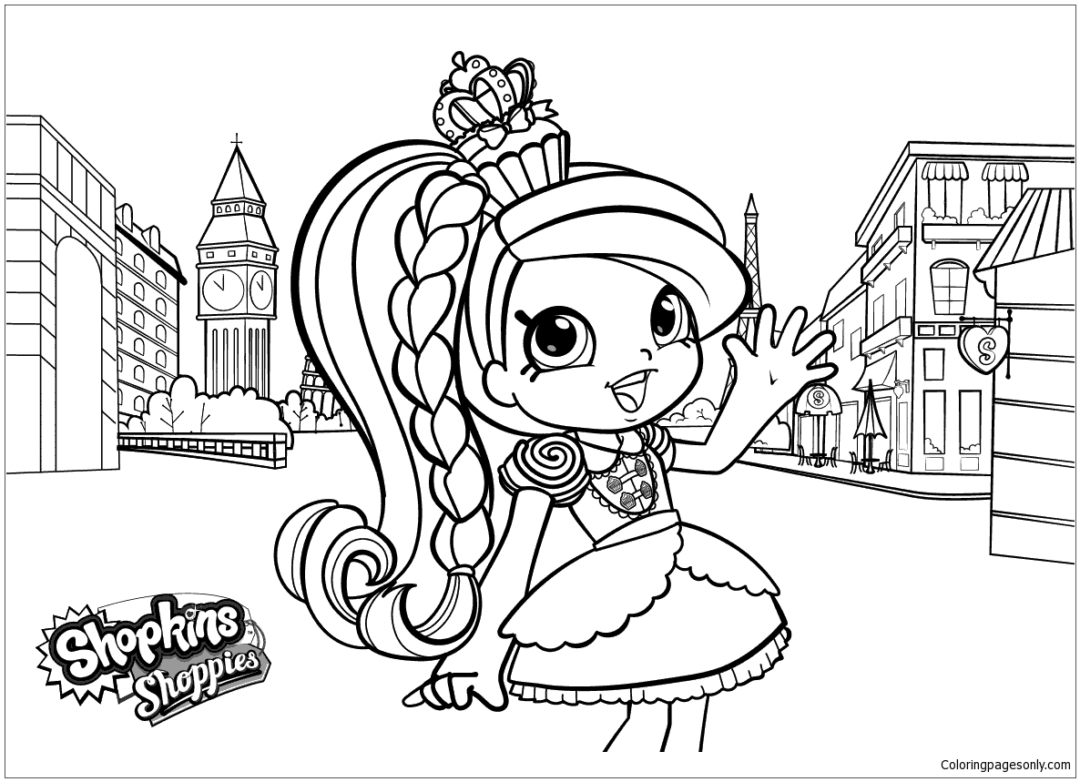 Shoppies Shopkins Coloring Page