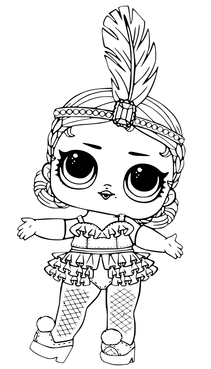 Lol Suprise Doll Show Baby Coloring Page