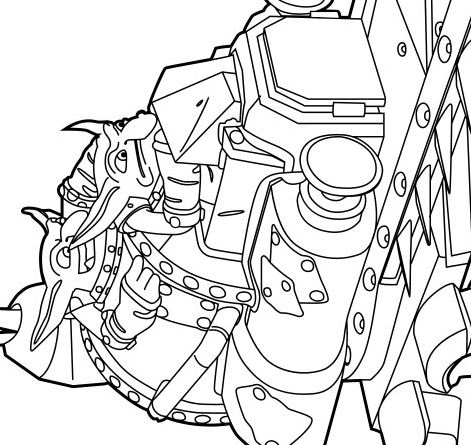 Shrednaught Coloring Page