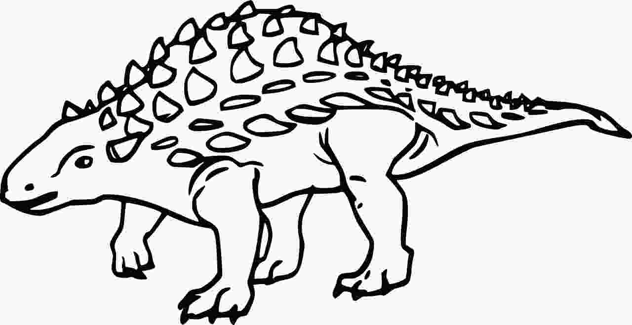 Silvisaurus was a herbivore, a part of Ankylosaur group, the armored dinosaur Coloring Page