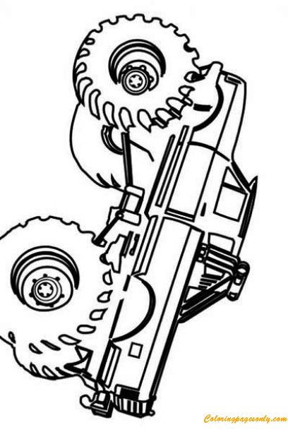simple monster truck coloring page