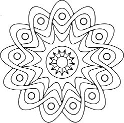 Simple Mandala 9