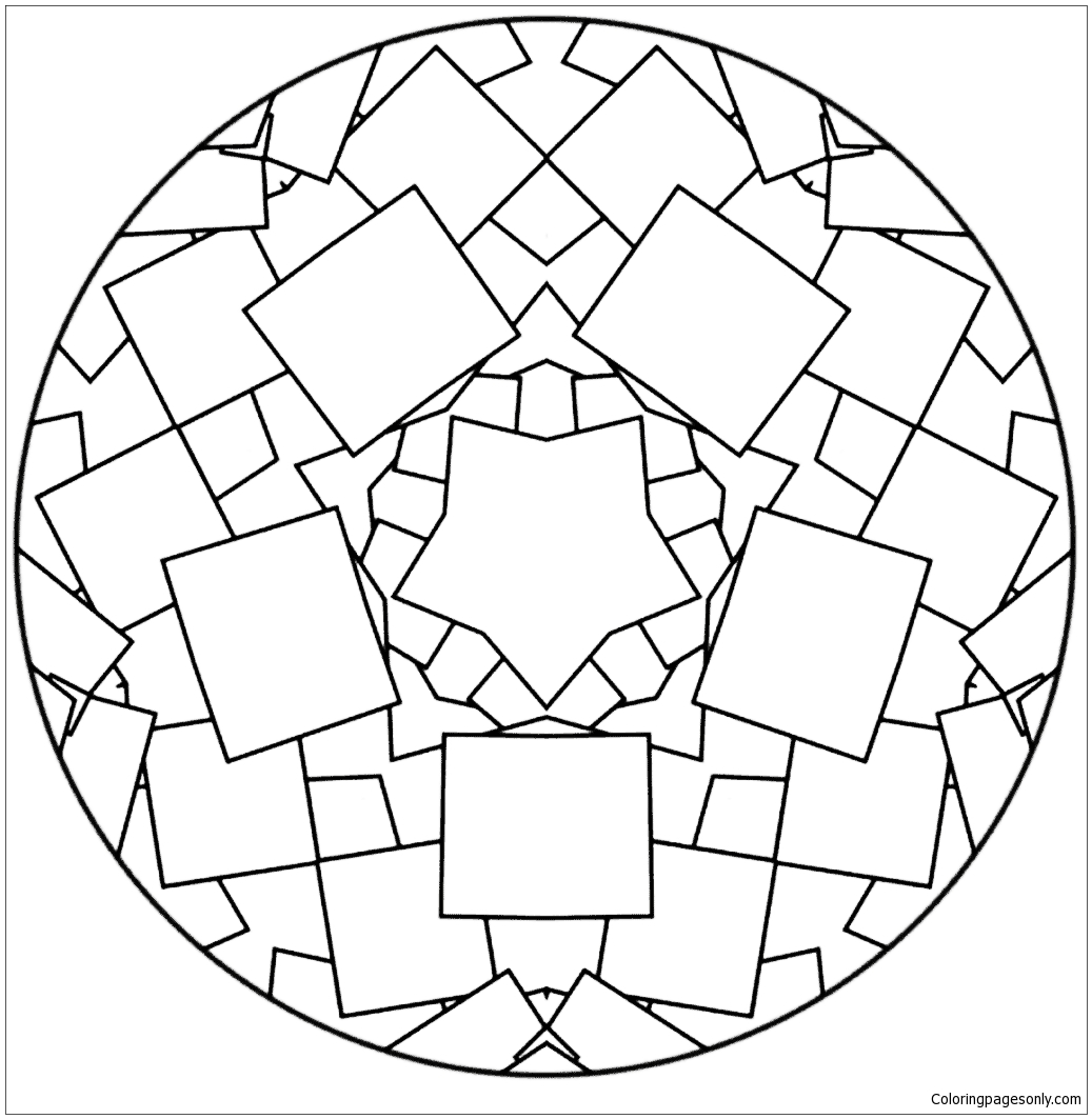 Simple Mandala Coloring Pages - Get Coloring Pages | 1063x1037