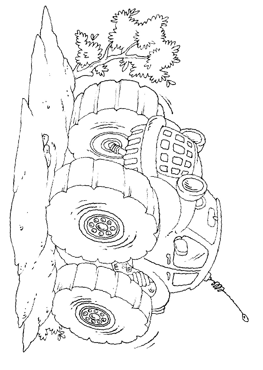 Easy Monster Truck Coloring Page - Free Coloring Pages Online