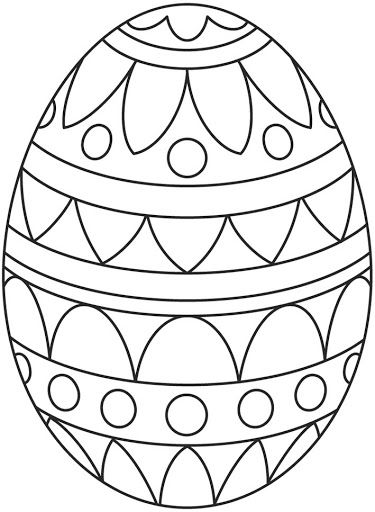 Simple Pattern Easter Egg Coloring Page
