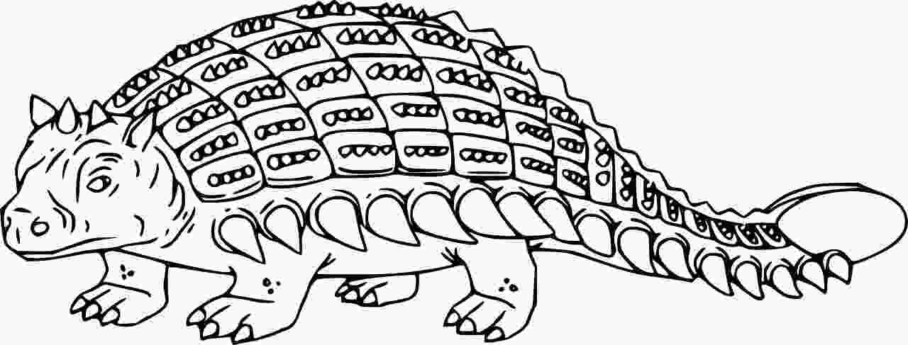 Simple Realistic Ankylosaurus Dinosaurus Coloring Page